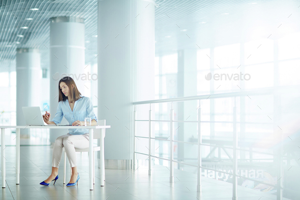 Woman at work - Stock Photo - Images