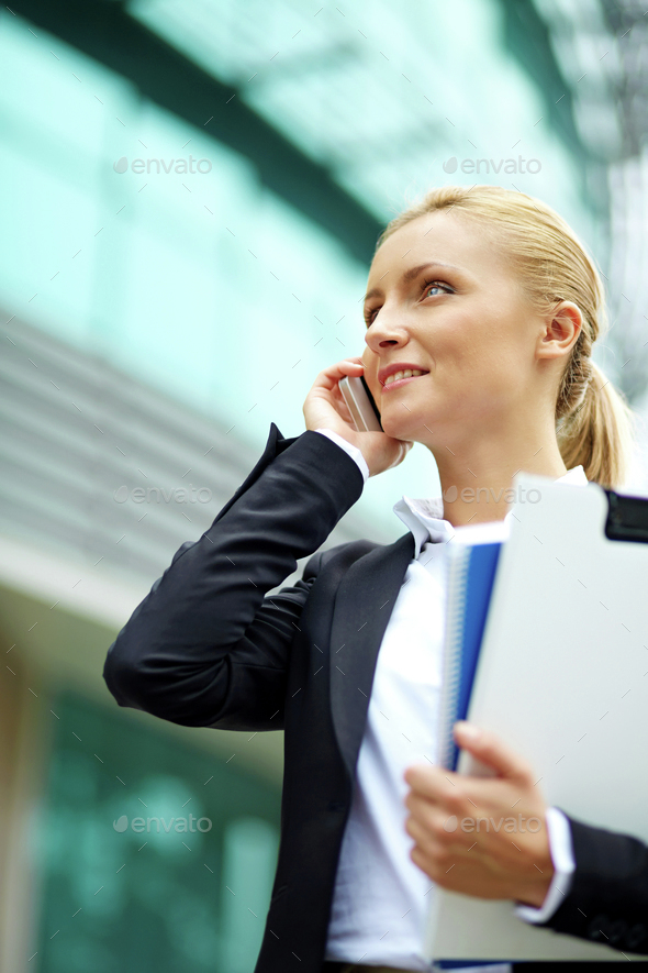 Outdoor call - Stock Photo - Images