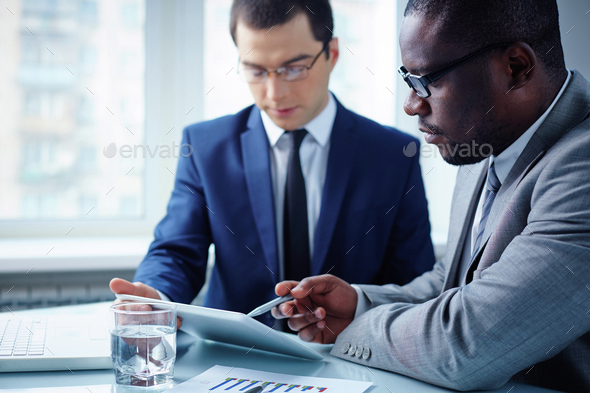 Meeting of businessmen - Stock Photo - Images