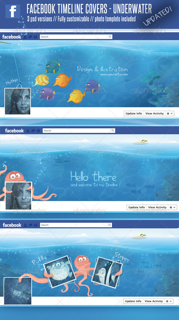 3 Facebook Timeline Covers – Underwater World - Facebook Timeline Covers Social Media