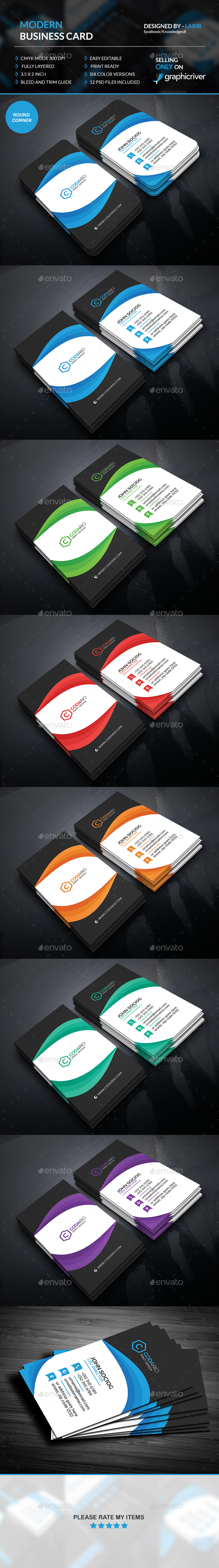 Modern Vertical Business Cards - Creative Business Cards