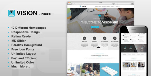 Vision - Multipurpose Drupal Theme - Corporate Drupal