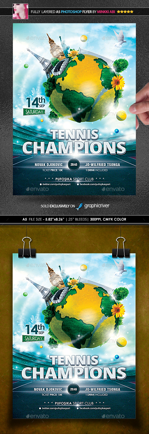 Tennis Champions Poster/Flyer - Sports Events