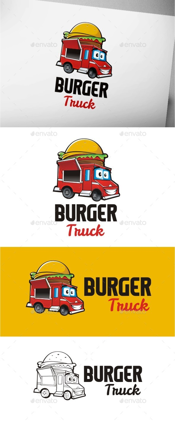 Burger Truck - Food Logo Templates