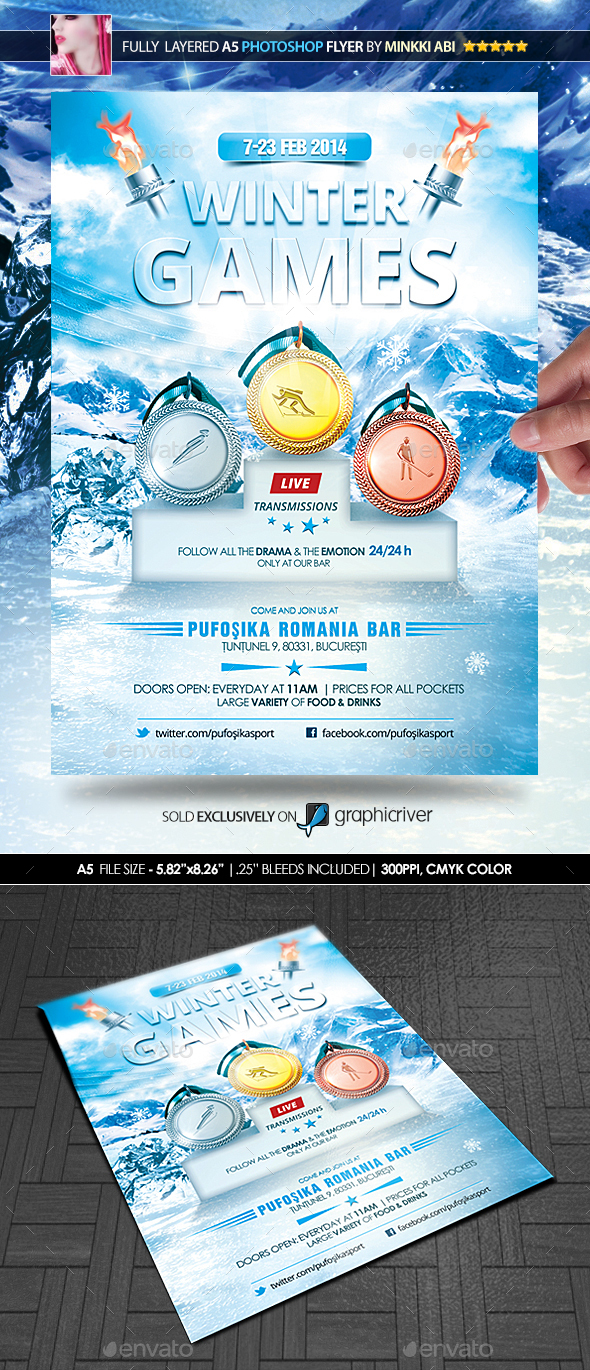 Winter Games Poster/Flyer - Sports Events