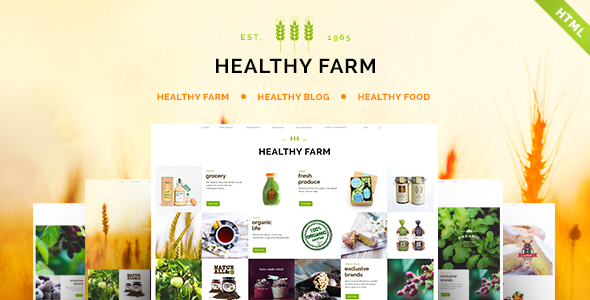 Healthy Farm | Food & Agriculture Site Template