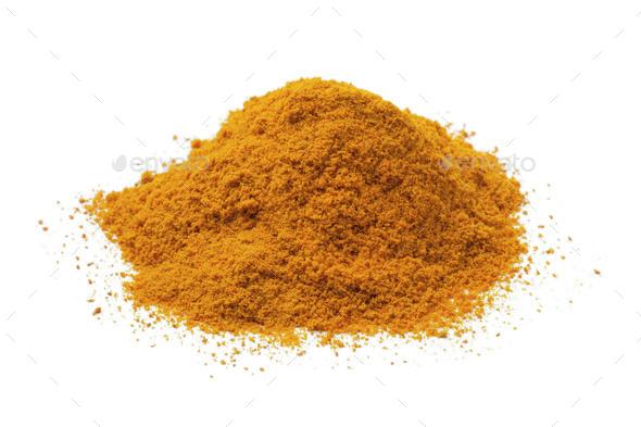 Heap of turmeric powder - Stock Photo - Images