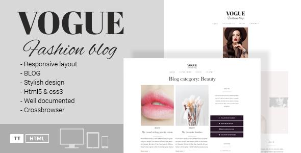 Vogue - A Fashion Blog HTML Template - Fashion Retail