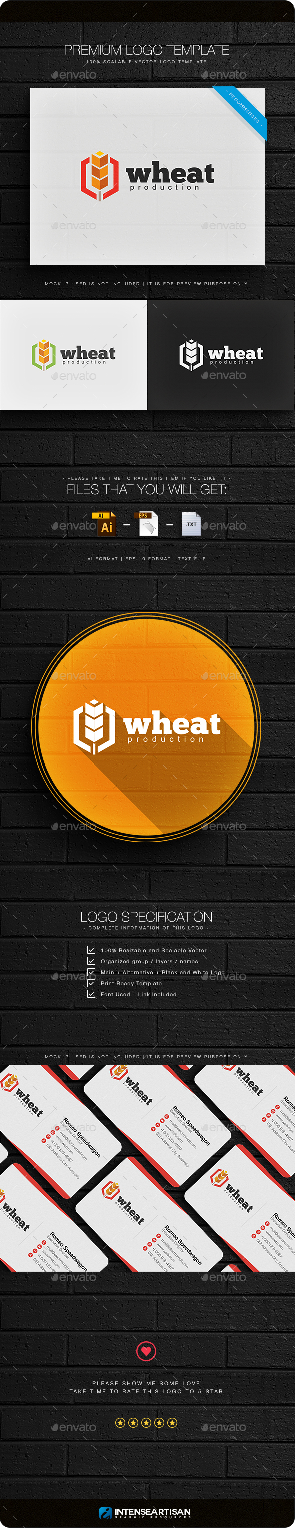 Wheat Logo - Nature Logo Templates