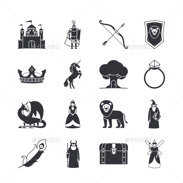 Fairytale and Fantasy Icons - Miscellaneous Conceptual