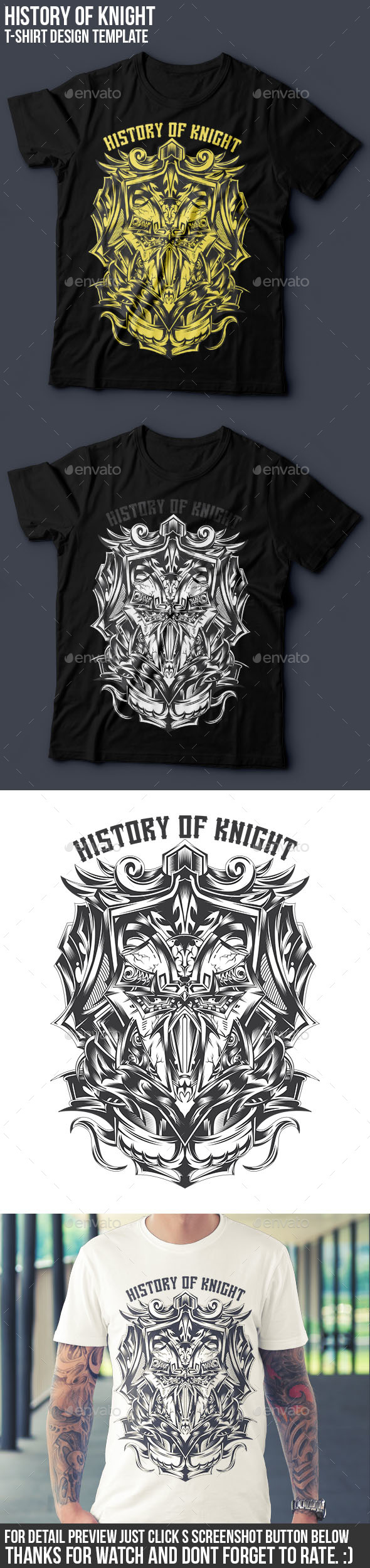 History of Knight T-shirt Design - Clean Designs