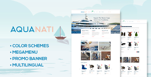Aquanati – Responsive Shopify theme
