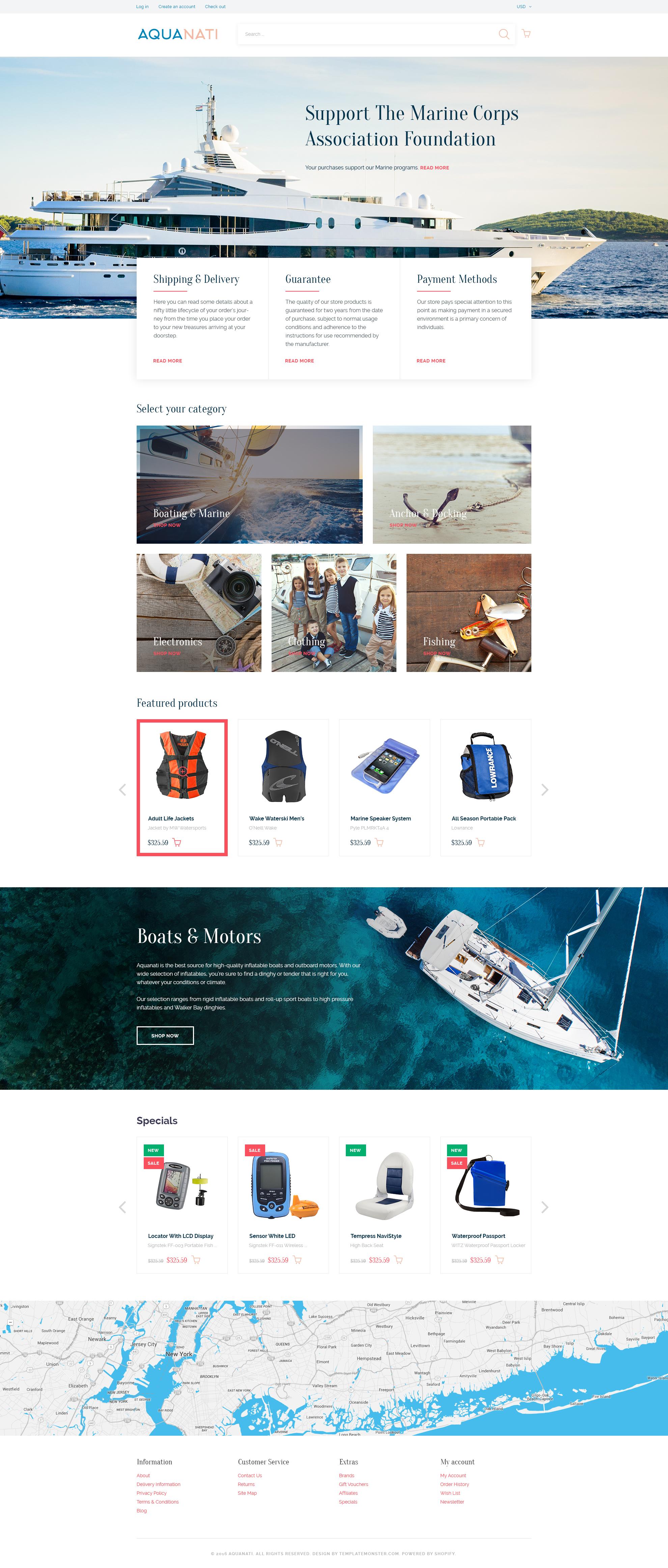 Aquanati - Responsive Shopify theme by ZEMEZ | ThemeForest