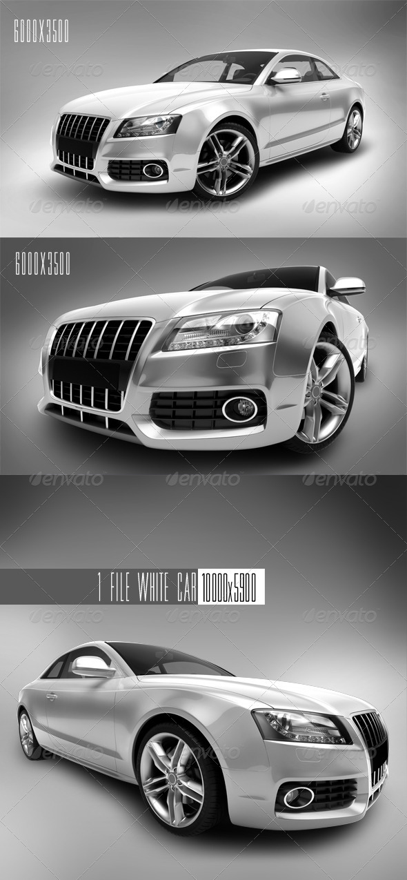 White Car 1 - 3D Renders Graphics