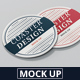 Round Coaster Mock-Up - GraphicRiver Item for Sale