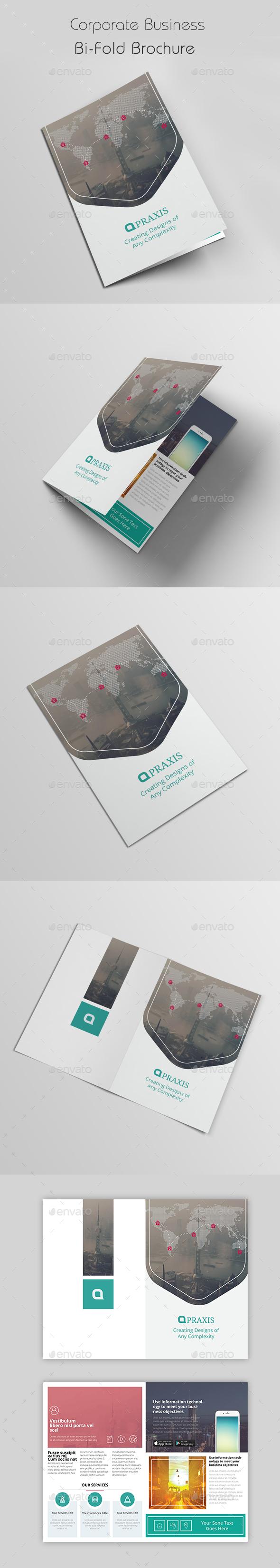 Corporate Business Bi-Fold Brochure - Brochures Print Templates