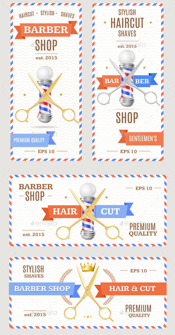 Barber Shop Banners Flyers Card - Services Commercial / Shopping