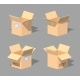 Low Poly Open Empty Cardboard Box - GraphicRiver Item for Sale