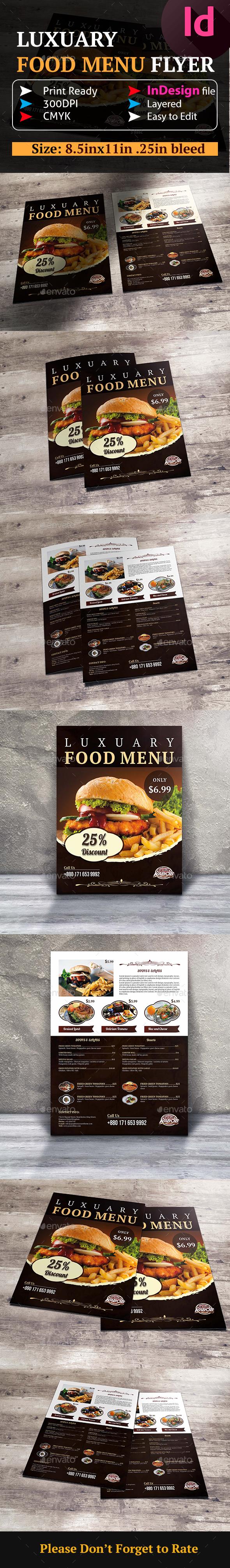 Food Menu Flyer - Restaurant Flyers