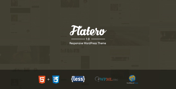 Flatero – Responsive WordPress Blog Theme