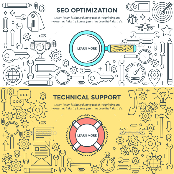 Banners for SEO and Support - Web Technology