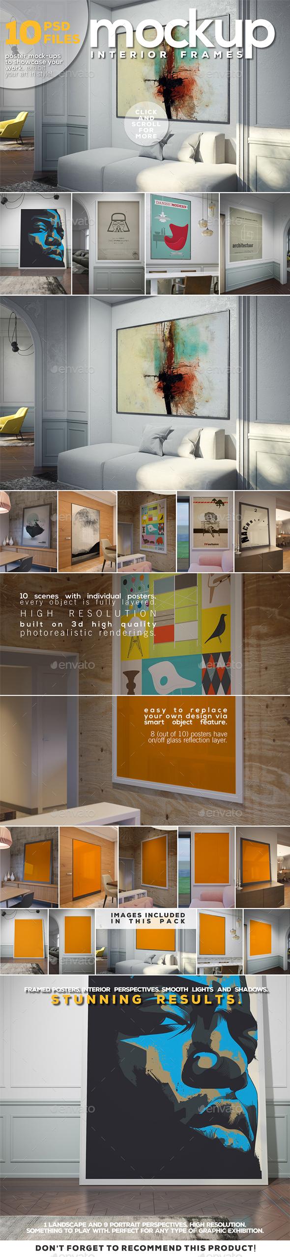 Poster Mockup - Interior Frames - Posters Print