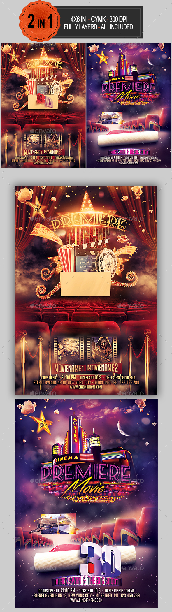 Premiere Movie Flyer Bundle - Miscellaneous Events