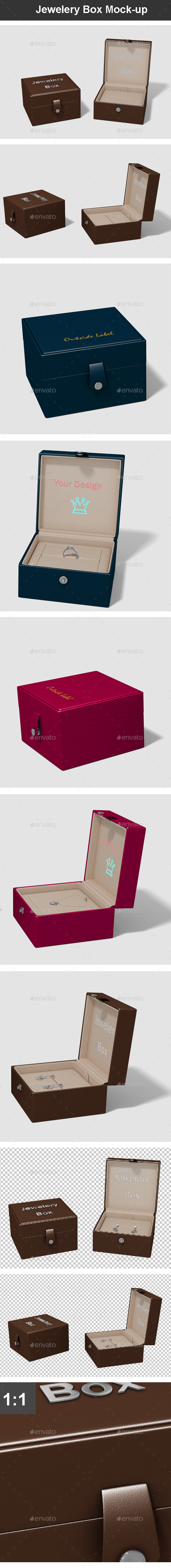 Jewelery Box Mock-up - Miscellaneous Packaging