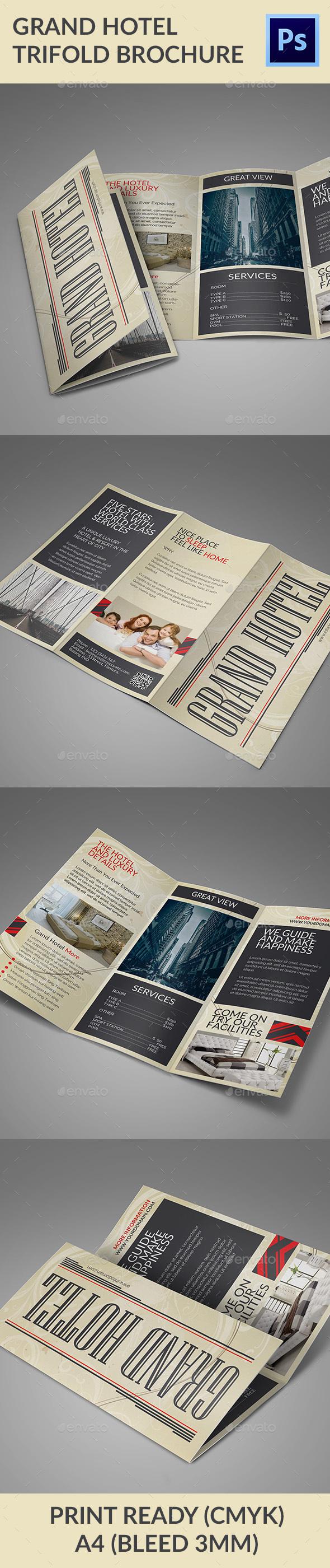 Grand Hotel Trifold Brochure - Informational Brochures