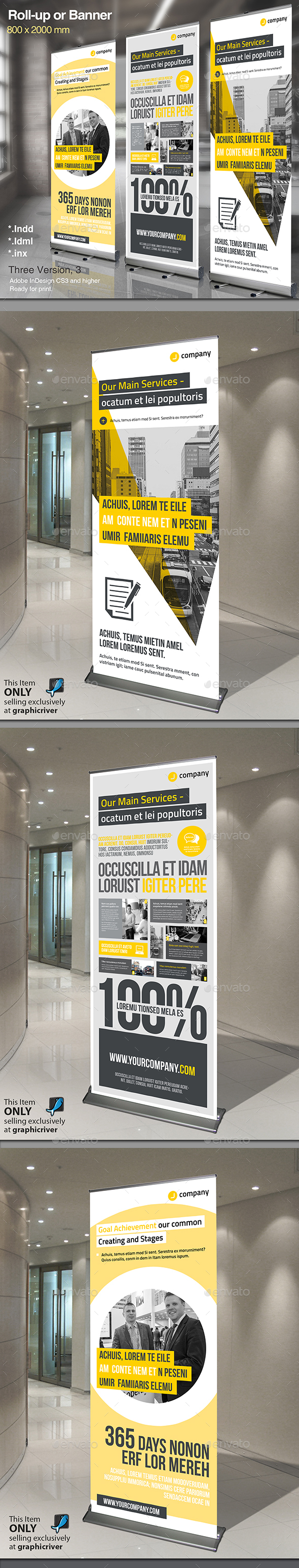 Corporate Roll-up Vol.5 - Signage Print Templates