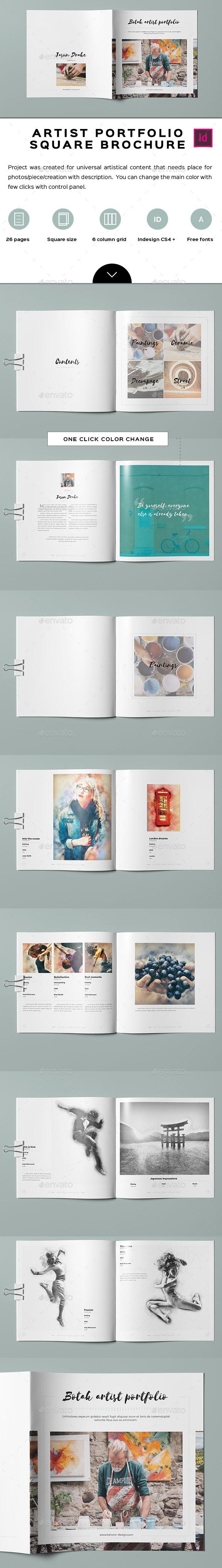 Botak Artist Portfolio - Portfolio Brochures
