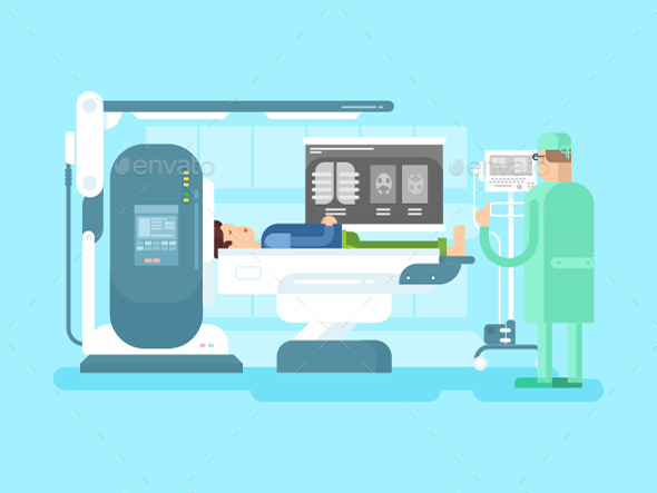 Cabinet With An MRI Device - Health/Medicine Conceptual