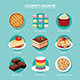 Desserts Favorite Set Flat Design - GraphicRiver Item for Sale