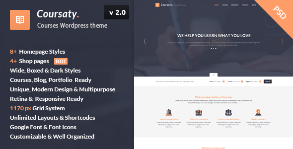 Coursaty – Courses | Education WordPress Theme