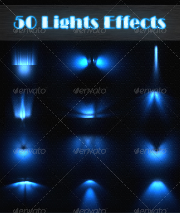 50 Lights Effects - Patterns Backgrounds