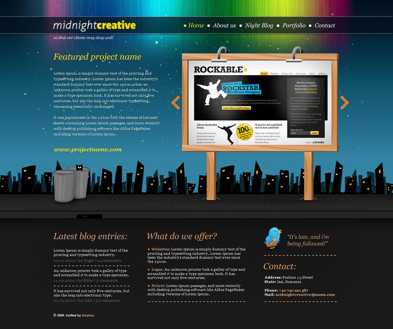 Free Download MidnightCreative - Portfolio Template Nulled Latest Version