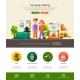 Camping, Hiking Website Header Banner - GraphicRiver Item for Sale