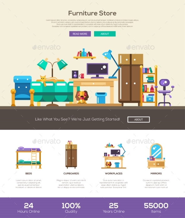 House Interior Store Website Header Banner - Organic Objects Objects