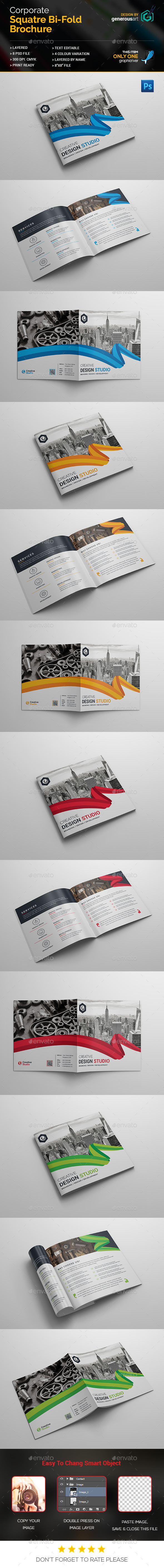 Square Bi-Fold Brochure Design - Corporate Brochures