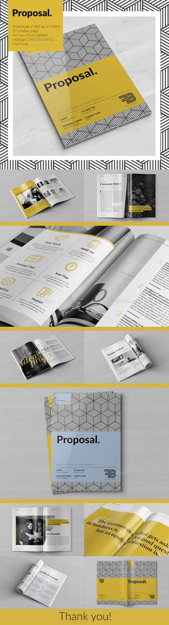 Creative Brochure (Proposal) - Brochures Print Templates