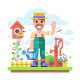 Gardener with a Watering Can - GraphicRiver Item for Sale