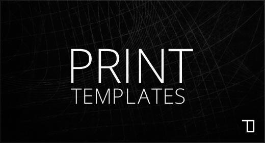 Print templates