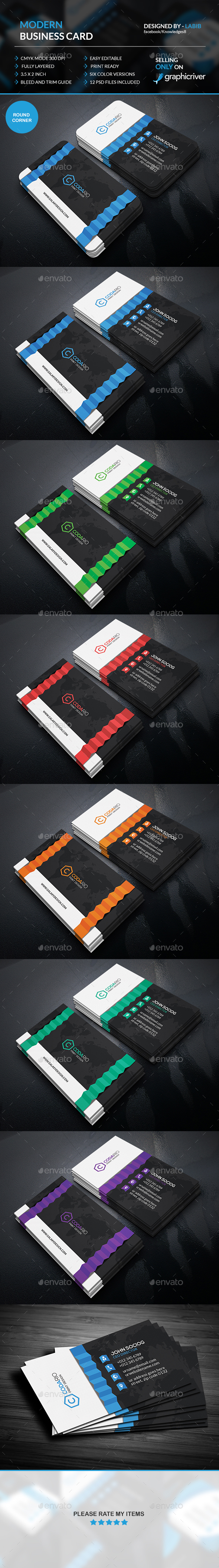 Modern Folded Business Cards - Creative Business Cards