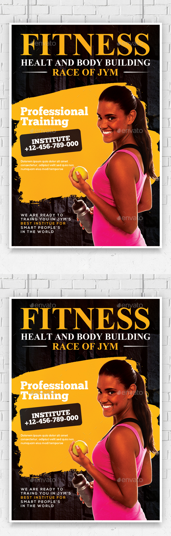 Fitness/Gym Flyer Template - Corporate Flyers
