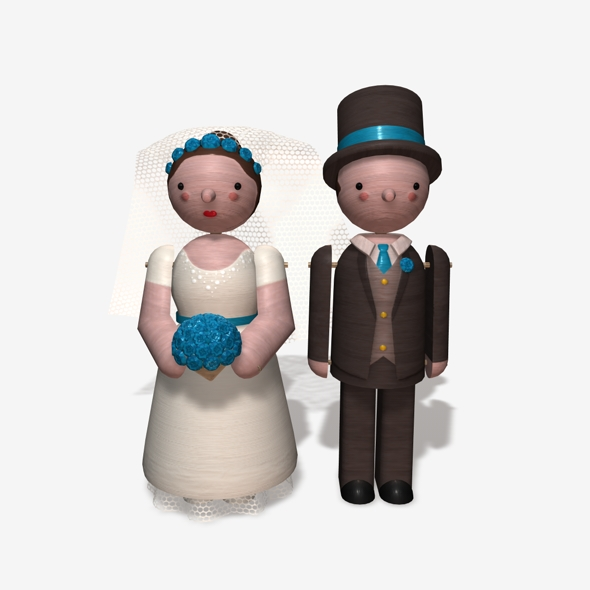 Toy Bride and Groom - 3DOcean Item for Sale