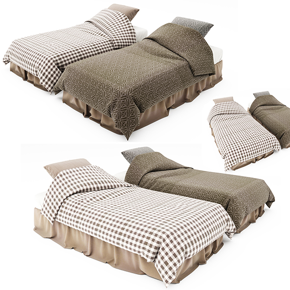 Bed collecton 45 - 3DOcean Item for Sale