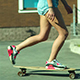 Speeding Skateboarding Woman At City - VideoHive Item for Sale