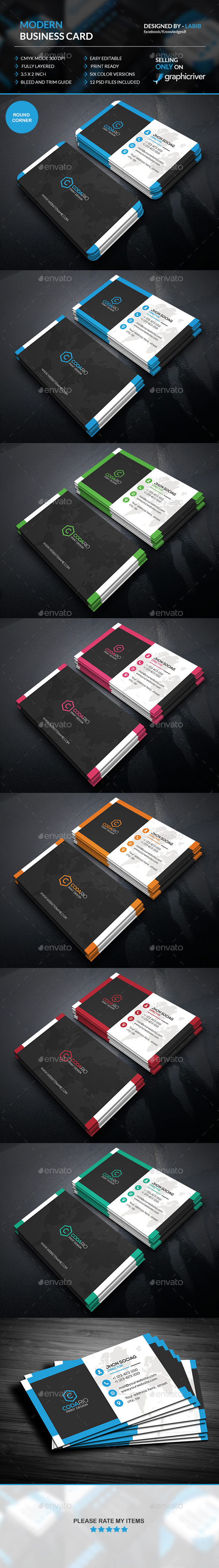 Modern Stylish Business Cards
