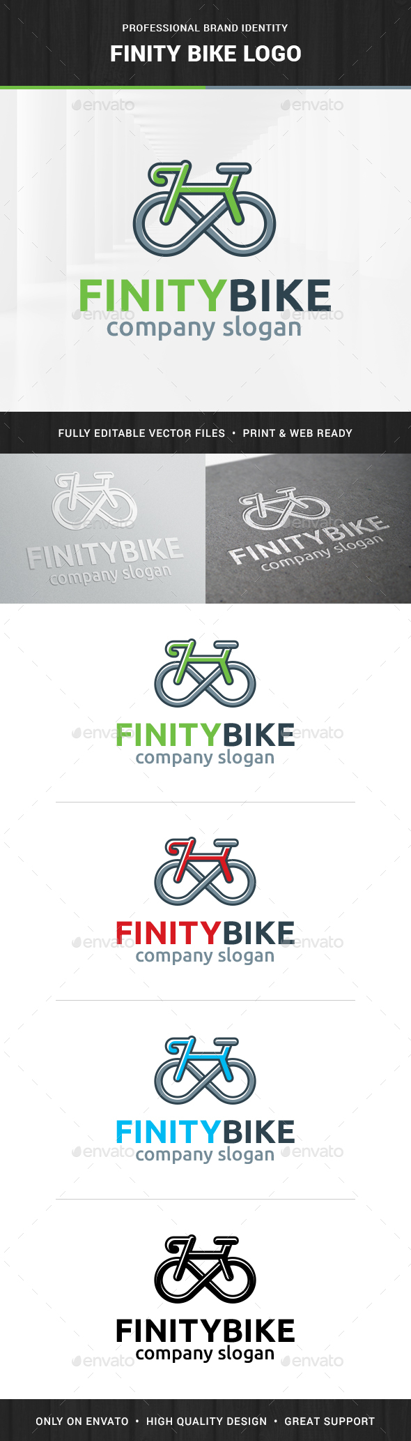 Infinity Bike Logo Template - Objects Logo Templates