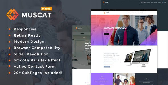 Muscat : Multi-Color Multipurpose HTML Template